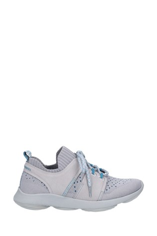 Hush Puppies Grey World BounceMax Lace-Up Trainers