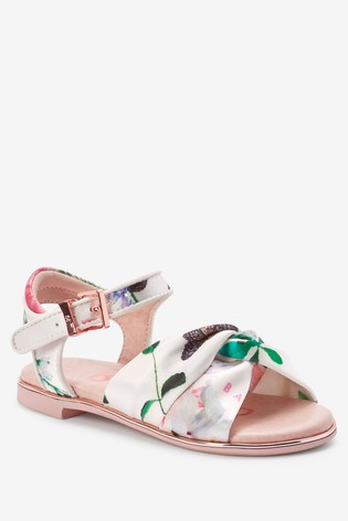 Baker by Ted Baker Floral Knotted Sandals