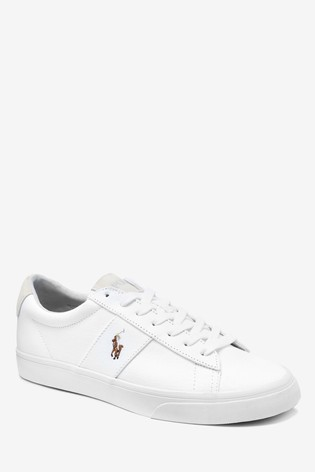 Polo Ralph Lauren® White Sayer Canvas Trainers