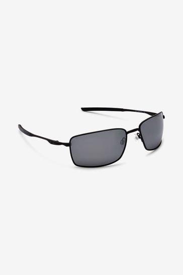 Oakley® Black Square Wire Sunglasses