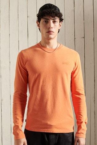 Superdry Orange Label Orange Organic Cotton Blend Embroidered Top
