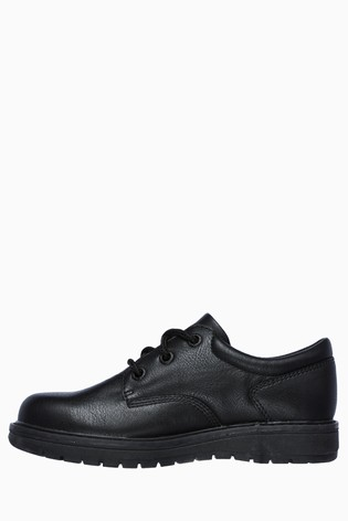 Skechers® Kids Black Gravlen Lace-Up Low Top School Shoe
