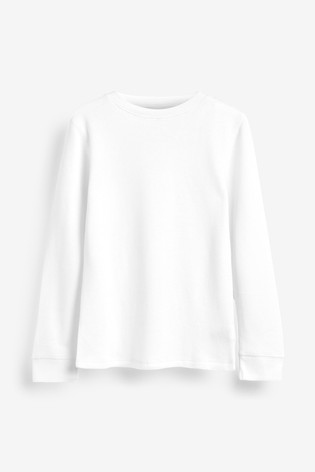 White 2 Pack Long Sleeved Thermal Tops (2-16yrs)