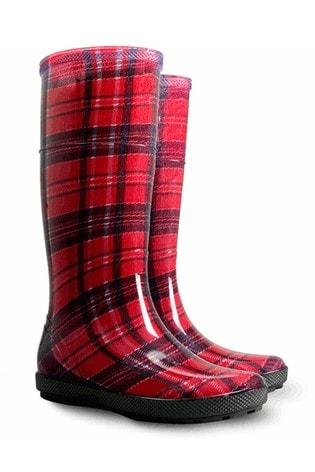 HotSquash Women's Red Wellington Boots