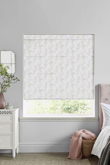 Grey Pussy Willow Made to Measure Roman Blind