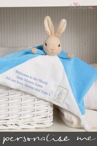 Personalised Peter Rabbit Comfort Blanket by Signature PG