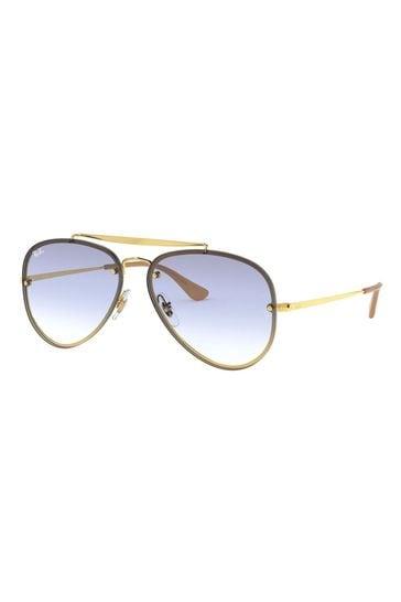 Ray-Ban® Gold Blaze Aviator Sunglasses