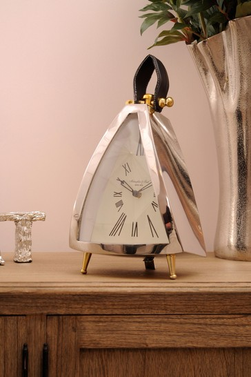 Libra Isoscles Curved Front Mantel Clock