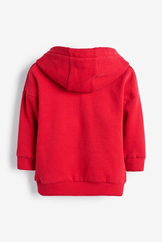 Red Hoody Soft Touch Jersey (3mths-7yrs)