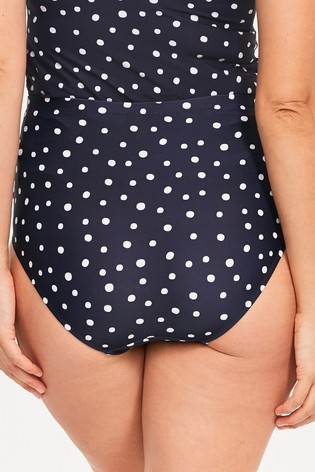 Figleaves Blue Belle Maternity Over Bump Brief