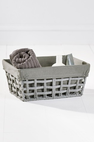 Rope Woven Taper Basket
