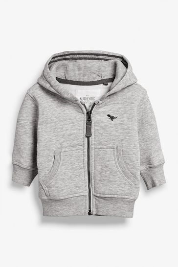 Grey Marl Essential Zip Through Hoody (3mths-7yrs)