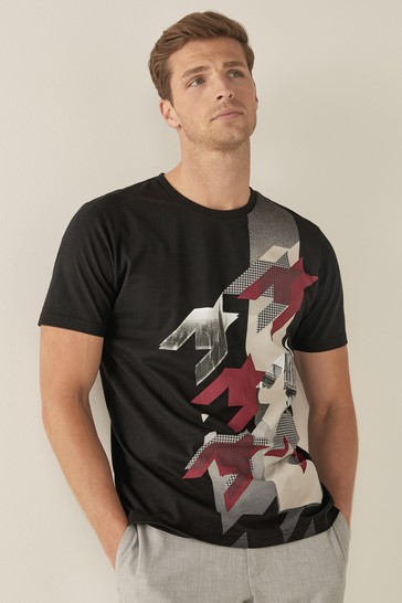 Black Dogtooth Graphic T-Shirt