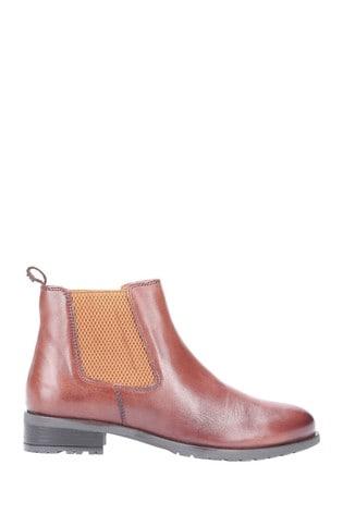 Hush Puppies Tan Gigi Slip-On Chelsea Boots