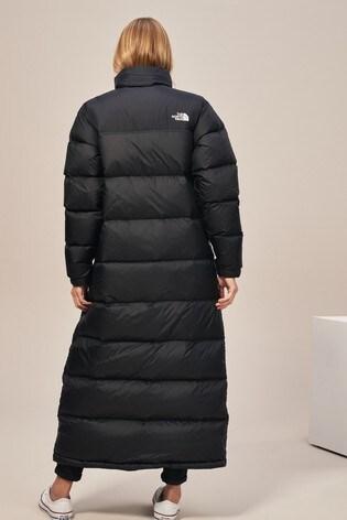 The North Face® Black Nuptse Duster Coat
