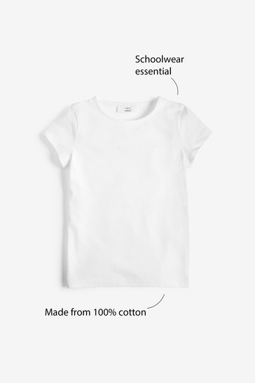 White 2 Pack Gym T-Shirt (3-16yrs)