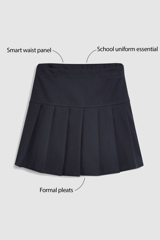 Navy Pleat Skirt (3-16yrs)
