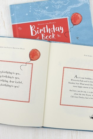Personalised Winnie The Pooh Birthday Book by Signature Book Publishing