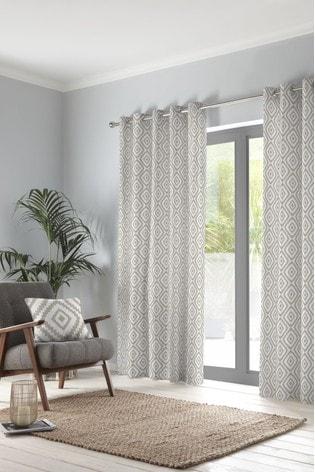 Fusion Navaho Cotton Eyelet Curtains