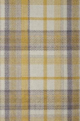 Dalton Check Eyelet Curtains Fabric Sample