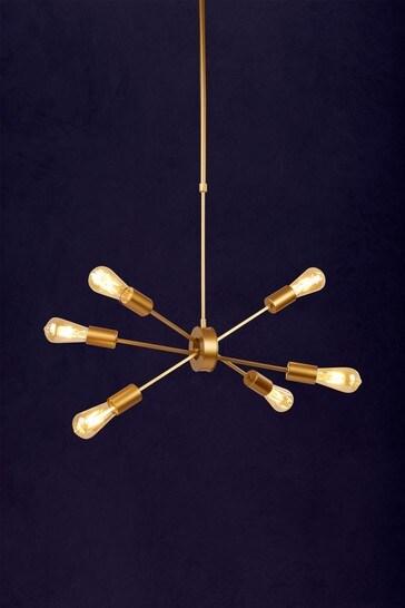Searchlight Gold Merge 6 Light Pendant