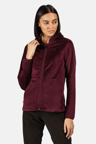 Regatta Purple Siddington Full Zip Hooded Fleece