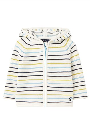 Joules Blue Conway Zip Through Knit Top