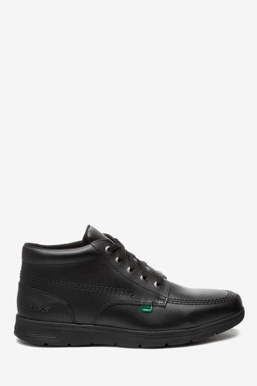 Kickers® Black Kelland Leather Lace Boots
