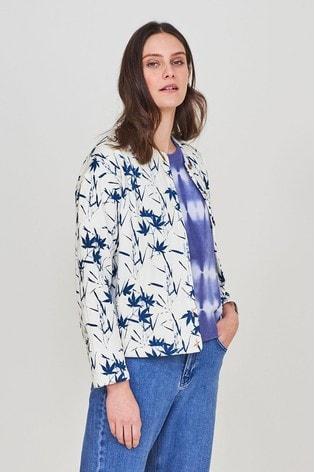 White Stuff Grey Pressed Flower Quilted Jacket