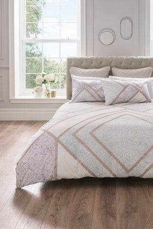 Sam Faiers Meryl Geo Cotton Duvet Cover and Pillowcase Set