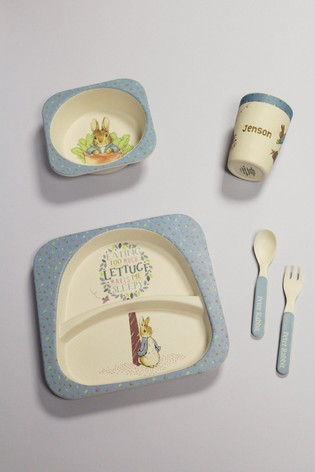 Personalised Peter Rabbit Bamboo Dinner Set by Signature PG