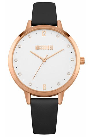 Missguided Black Strap Watch