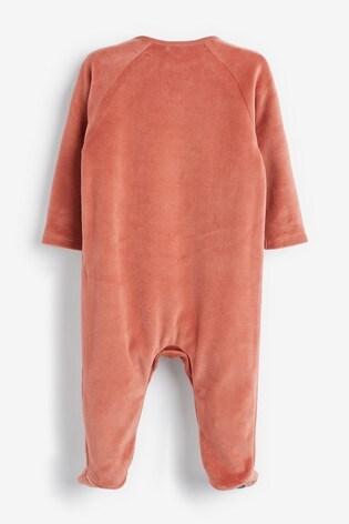 Rust Fox Velour Sleepsuit (0mths-2yrs)