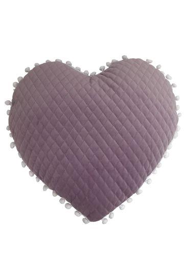 Little Furn Heart Pom Pom Cushion by Furn