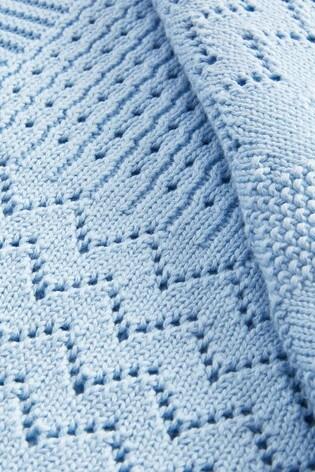 Blue Knit Blanket (Newborn)
