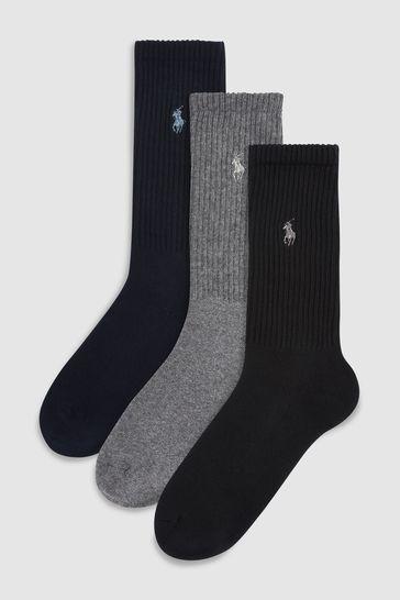 Polo Ralph Lauren Sports Socks Three Pack