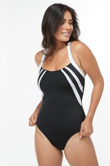 Black Sports Pool Swimsuit