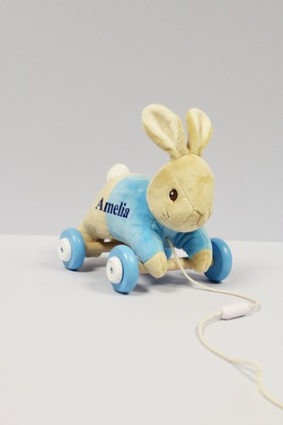 Personalised Peter Rabbit Pull Along Toy by Signature PG