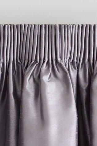 Faux Silk Pencil Pleat Blackout/Thermal Curtains