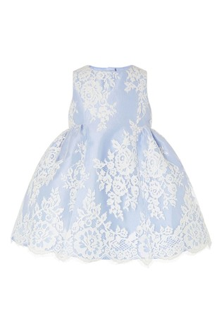 Monsoon Blue Baby Lace Dress