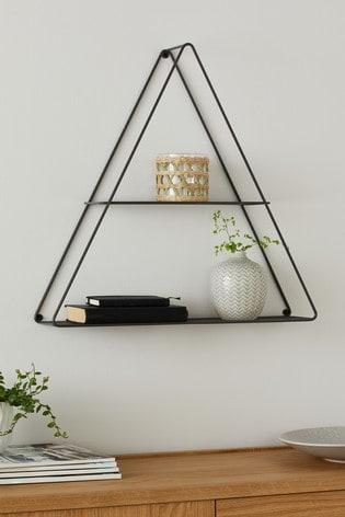 Grey Wire Triangle Shelf