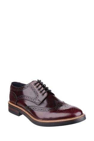 Base London® Red Woburn Hi-Shine Shoes