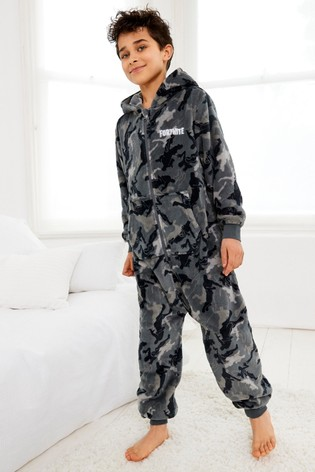 Monochrome Fortnite Fleece All-In-One (10-16yrs)