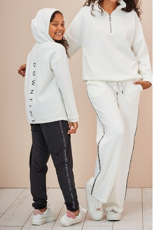 Monochrome Sweat Hoody With Fleece Leggings Set (3-16yrs)