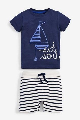 Blue Set Sail T-Shirt And Shorts Set (3mths-7yrs)