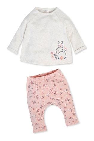 M&Co Kids Grey Bunny Top And Leggings Set