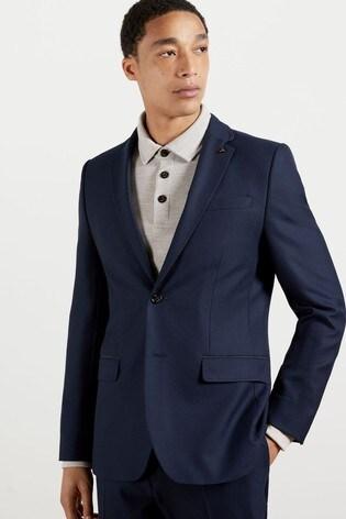 Ted Baker Blue Eskk Semi Plain Blazer