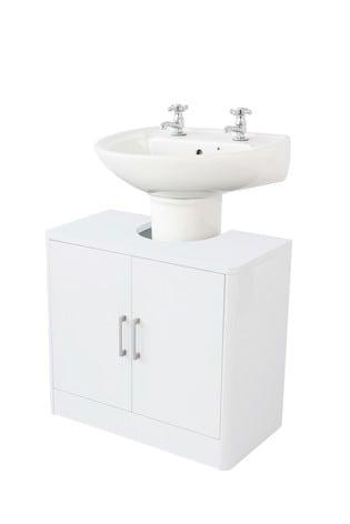 Lloyd Pascal White Gloss Cabinet