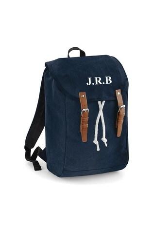 Personalised Navy Rucksack by Loveabode