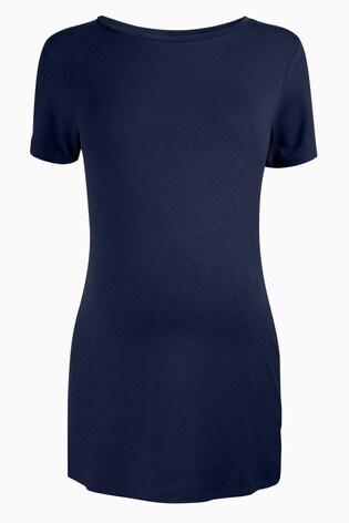 Navy Maternity Jersey T-Shirt